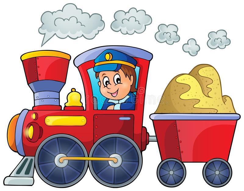 Image with train theme 2 royalty free illustration