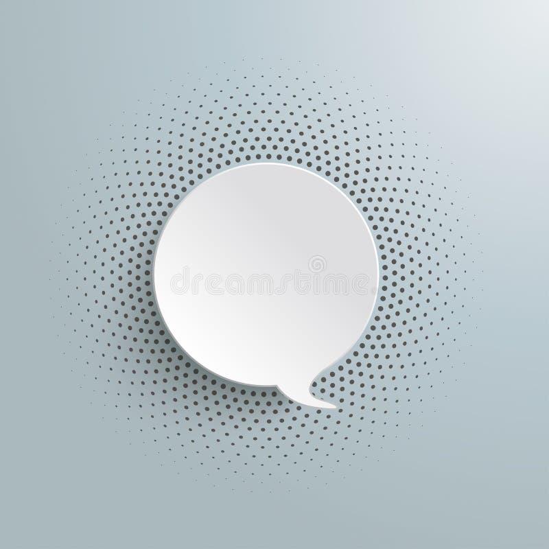 Image tramée de bulle de la parole illustration libre de droits