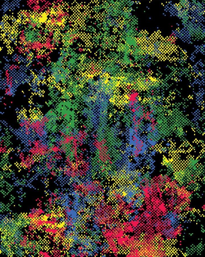 Image tramée de couleur illustration de vecteur