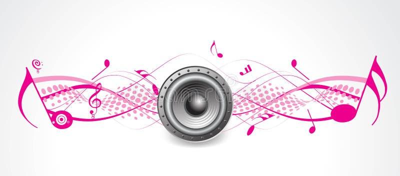 Image tramée de thème de musique avec fort illustration stock