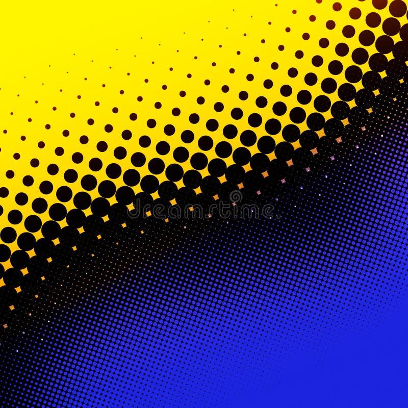 Image tramée jaune et bleue illustration stock