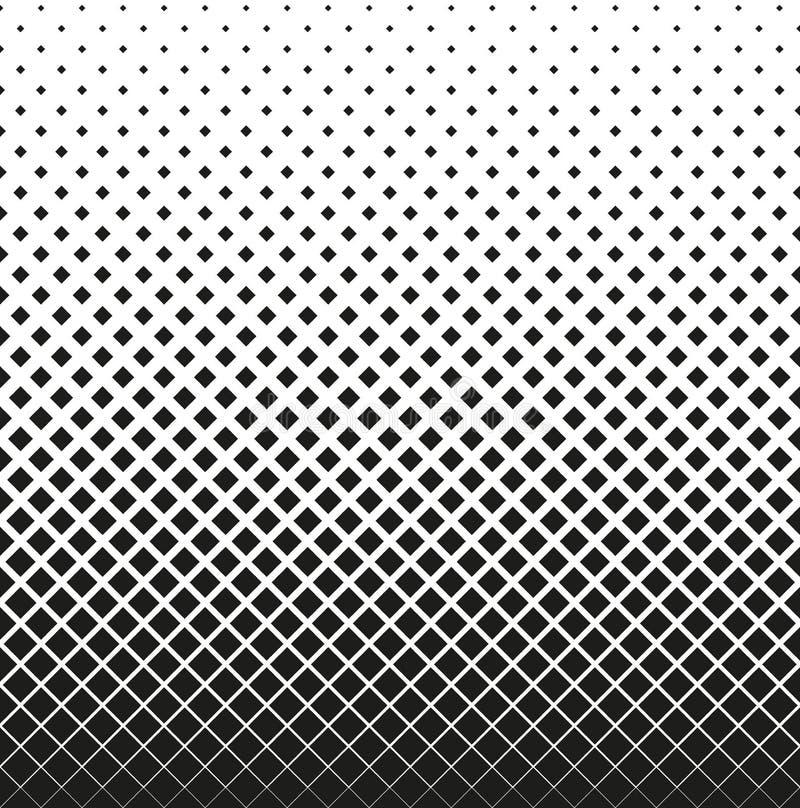 Image tramée sans couture horizontale des diminutions de places, sur le fond blanc Fond tramé Contrasty Vecteur illustration libre de droits