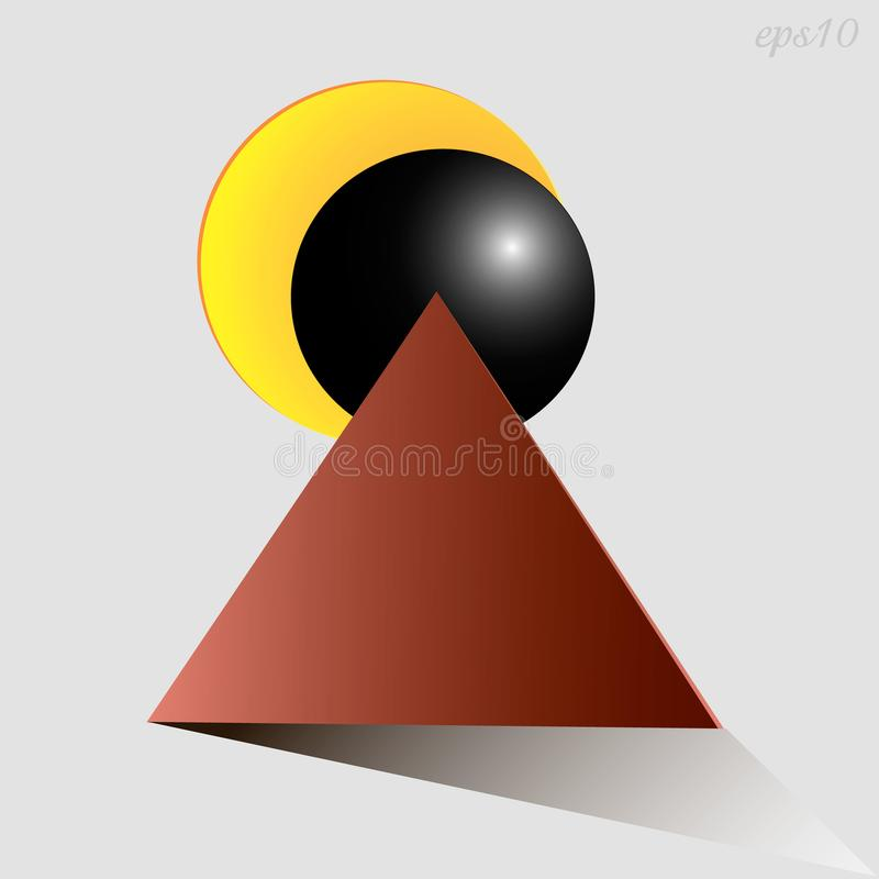 Eclipse abstraction drawing stock illustration