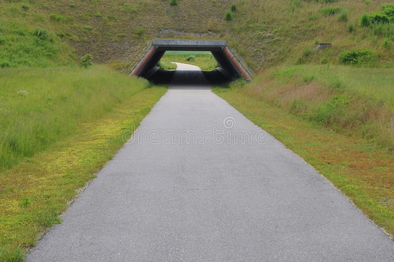 Image of tunnel under road. stock photo