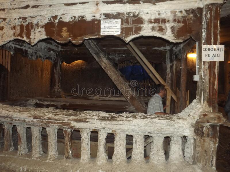 Image from Turda Salt Mine from Transylvania stock images