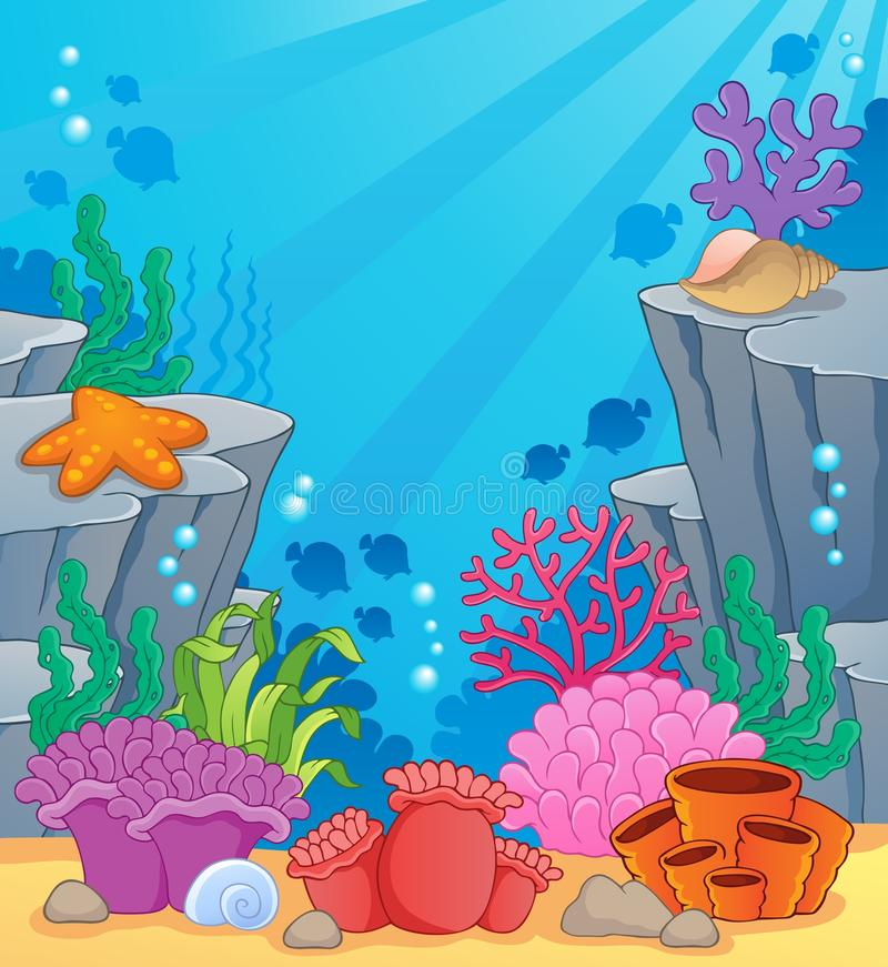 Image with undersea topic 3. Vector illustration vector illustration