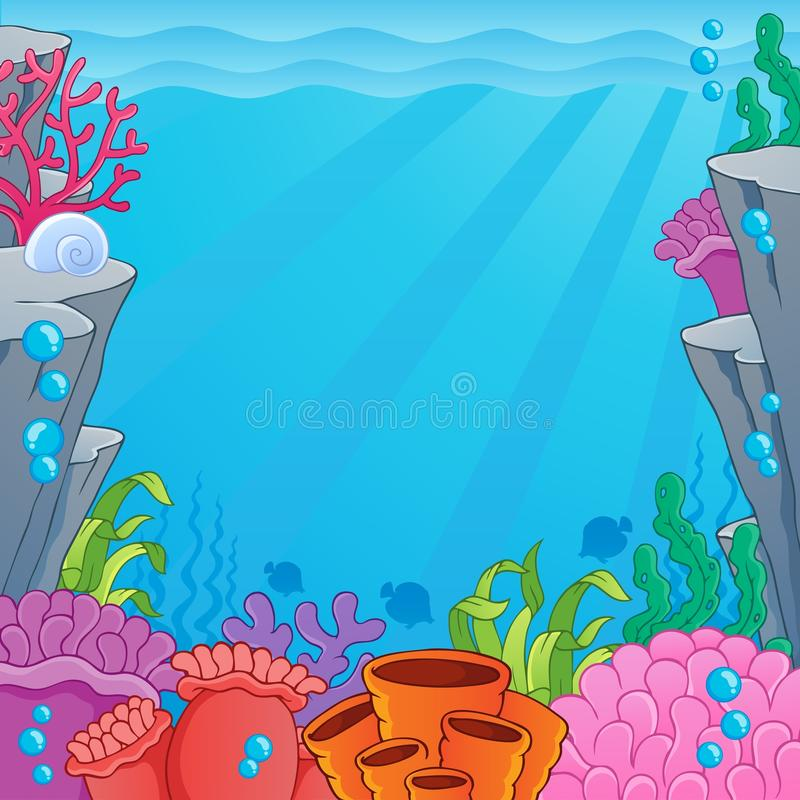 Image with undersea topic 4. Vector illustration stock illustration