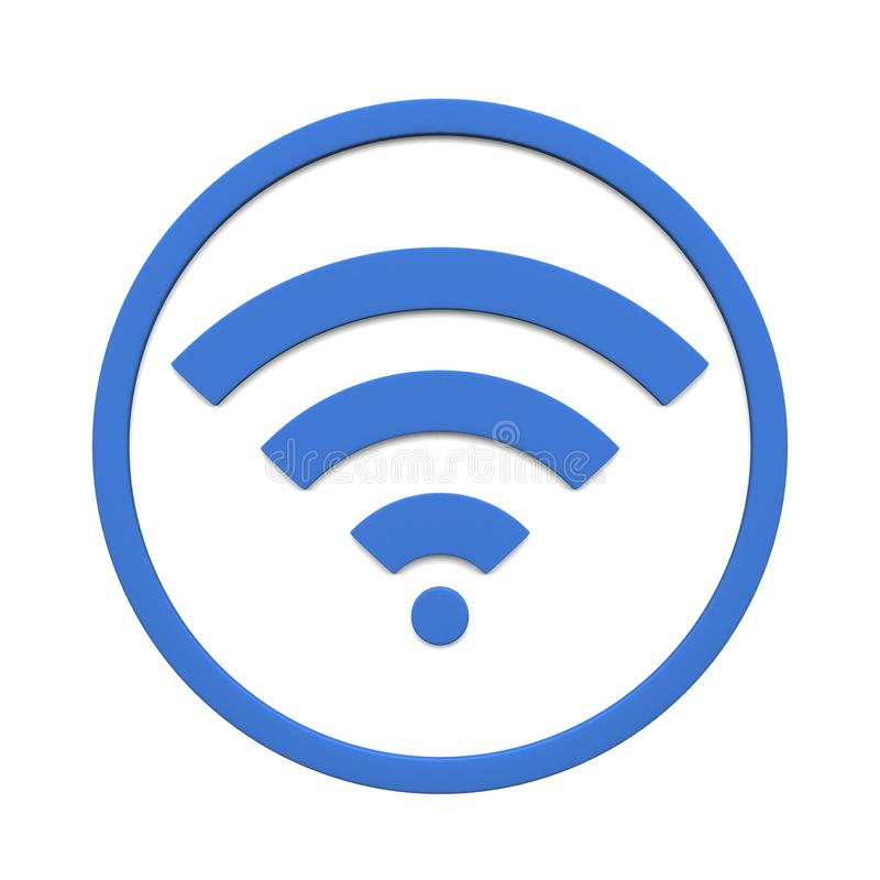 Image of various wifi sign symbol isolated on a white background. 3D rendering stock image