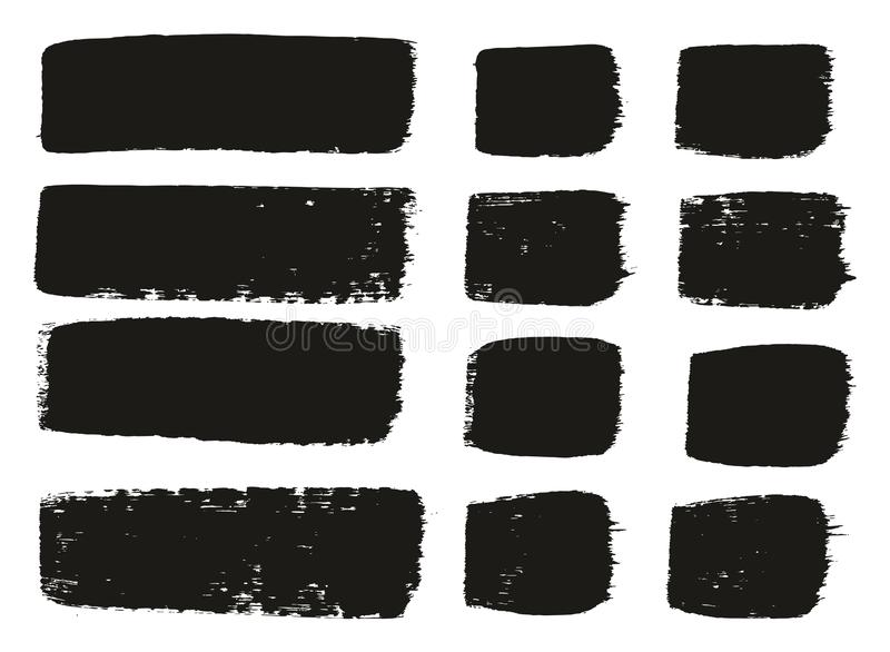 Paint Brush Medium Lines High Detail Abstract Vector Background Set 146. This image is a vector illustration and can be scaled to any size without loss of stock illustration