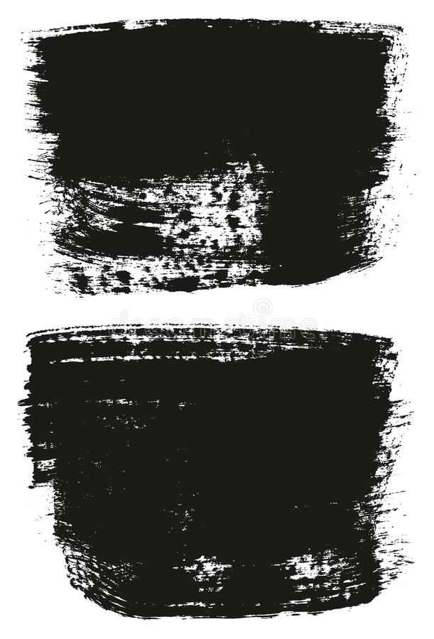 Paint Brush Wide Background High Detail Abstract Vector Background Set 143. This image is a vector illustration and can be scaled to any size without loss of royalty free illustration