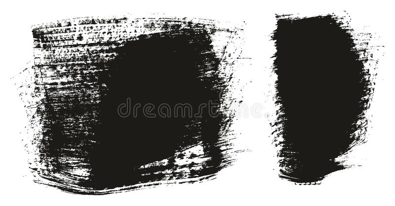 Paint Brush Wide Background High Detail Abstract Vector Background Set 135. This image is a vector illustration and can be scaled to any size without loss of royalty free illustration