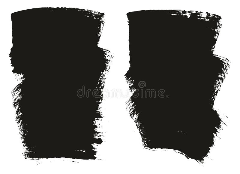 Paint Brush Wide Background High Detail Abstract Vector Background Set 106. This image is a vector illustration and can be scaled to any size without loss of royalty free illustration
