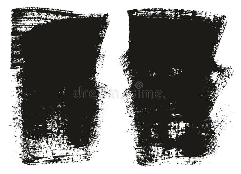 Paint Brush Wide Background High Detail Abstract Vector Background Set 105. This image is a vector illustration and can be scaled to any size without loss of royalty free illustration