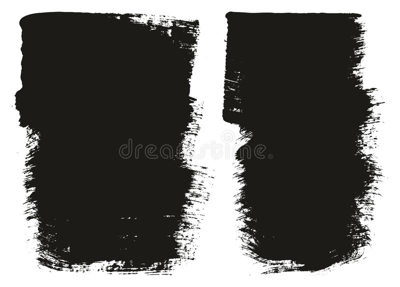 Paint Brush Wide Background High Detail Abstract Vector Background Set 102. This image is a vector illustration and can be scaled to any size without loss of royalty free illustration