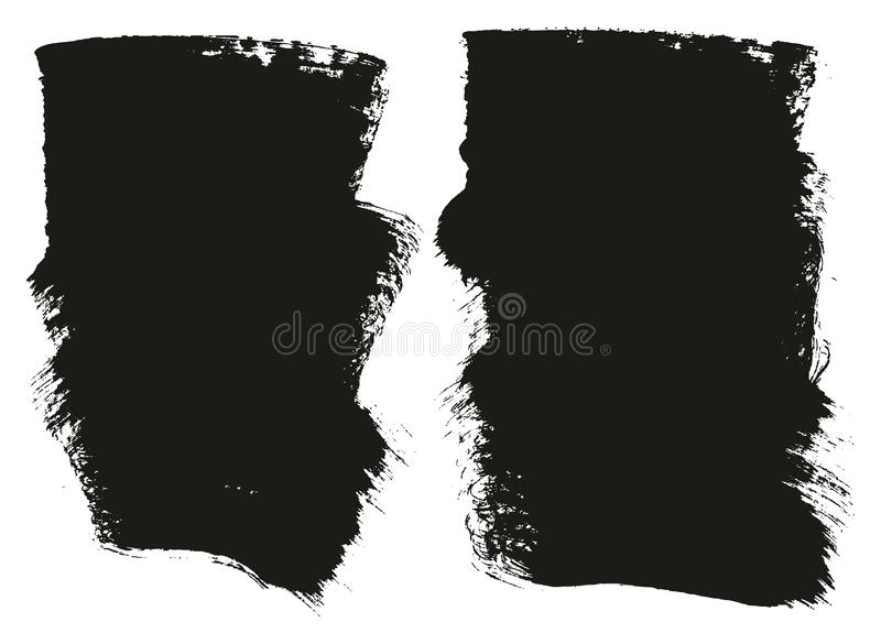 Paint Brush Wide Background High Detail Abstract Vector Background Set 98. This image is a vector illustration and can be scaled to any size without loss of vector illustration