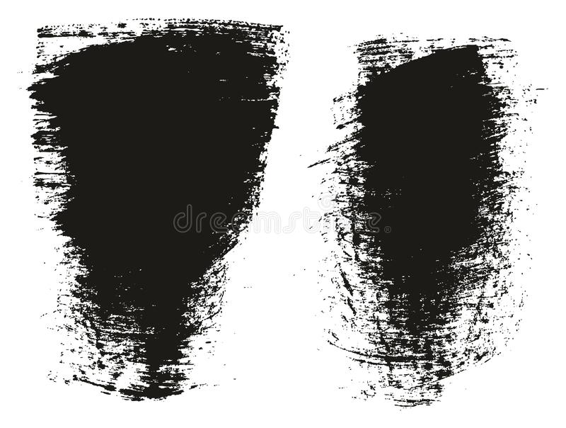 Paint Brush Wide Background High Detail Abstract Vector Background Set 87. This image is a vector illustration and can be scaled to any size without loss of vector illustration