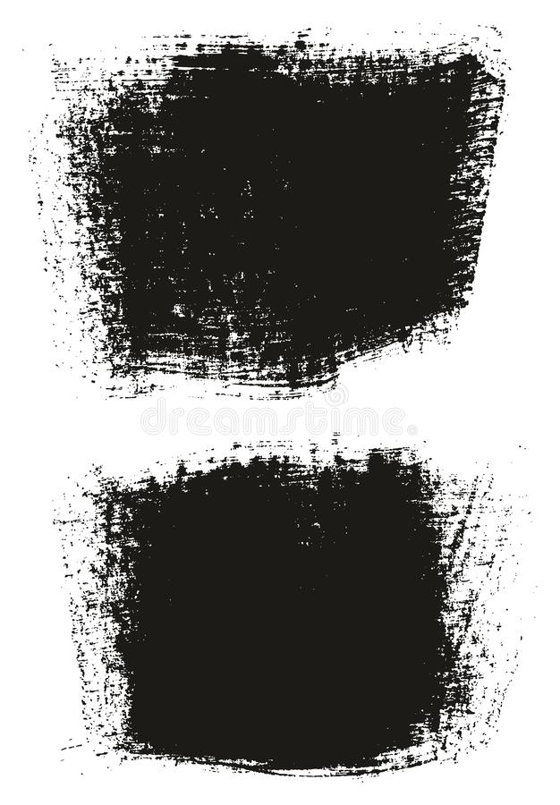 Paint Brush Wide Background High Detail Abstract Vector Background Set 24. This image is a vector illustration and can be scaled to any size without loss of vector illustration