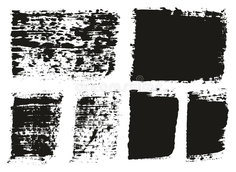 Paint Brush Wide Lines High Detail Abstract Vector Background Set 146. This image is a vector illustration and can be scaled to any size without loss of royalty free illustration