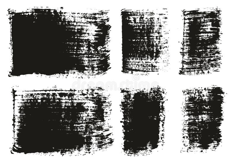 Paint Brush Wide Lines High Detail Abstract Vector Background Set 93. This image is a vector illustration and can be scaled to any size without loss of vector illustration