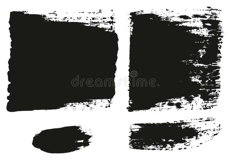 Paint Brush Wide Lines High Detail Abstract Vector Background Set 83. This image is a vector illustration and can be scaled to any size without loss of stock illustration