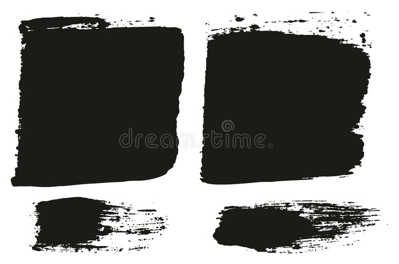 Paint Brush Wide Lines High Detail Abstract Vector Background Set 78. This image is a vector illustration and can be scaled to any size without loss of royalty free illustration