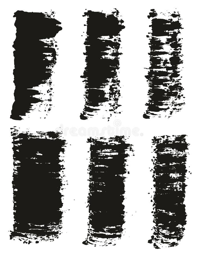 Paint Brush Wide Lines High Detail Abstract Vector Background Set 49. This image is a vector illustration and can be scaled to any size without loss of stock illustration