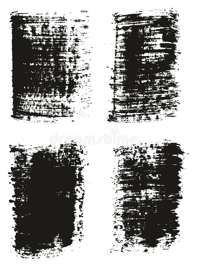 Paint Brush Wide Lines High Detail Abstract Vector Background Set 27. This image is a vector illustration and can be scaled to any size without loss of stock illustration