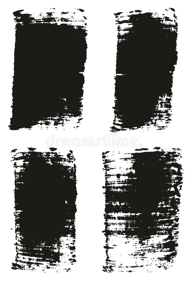 Paint Brush Wide Lines High Detail Abstract Vector Background Set 24. This image is a vector illustration and can be scaled to any size without loss of stock illustration