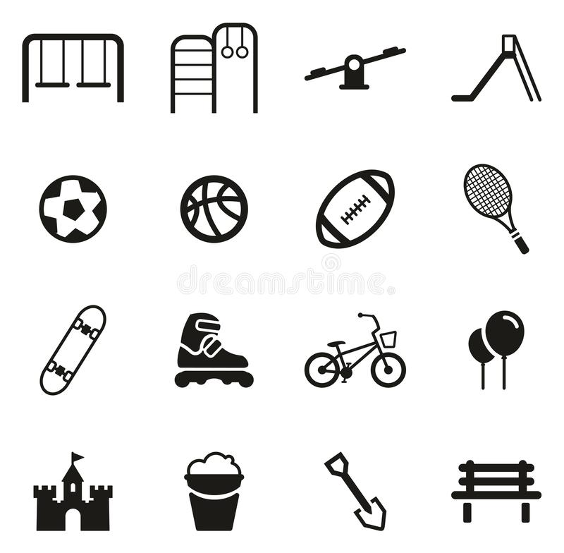 Playground or Park Icons royalty free illustration