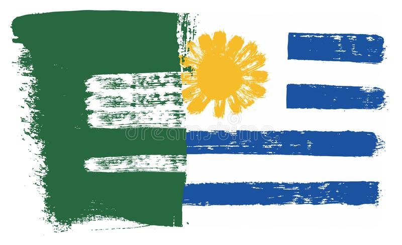 Download Saudi Arabia Flag Uruguay Vector Hand Painted With Rounded Brush Stock