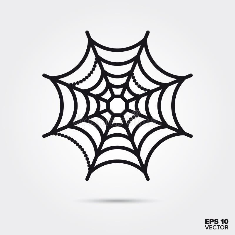 Image vectorielle de l'icône de ligne de cobweb Halloween illustration stock