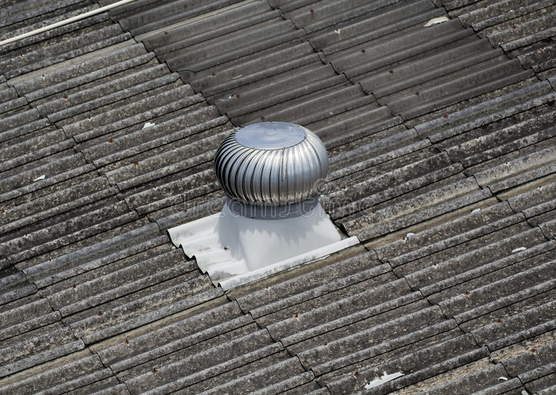 Image of Ventilators fan on the roof. stock image