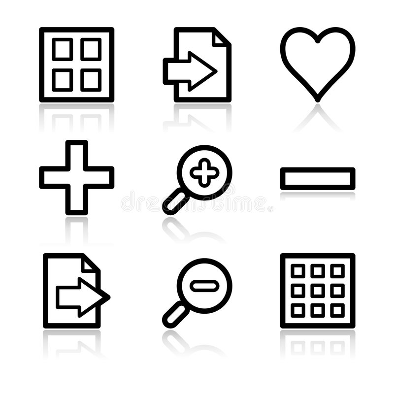 Free Image Viewer Contour Web Icons Royalty Free Stock Photo - 6850215