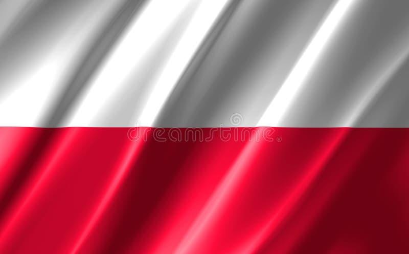 Image of a waving polish flag. Image of a waving polish  flag vector illustration