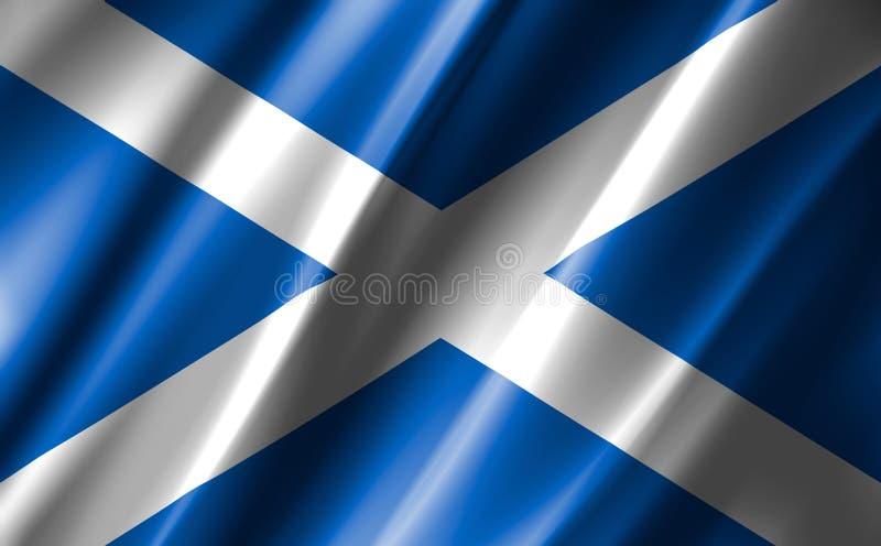 Image of a waving scotland flag. stock illustration