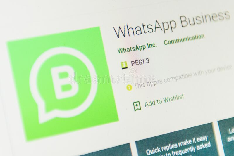 Whatsapp Business App Icon Selective Focus Editorial Photo Image Of Business Play 178939076
