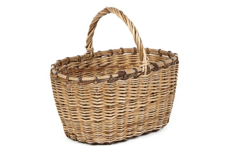 Image of wicker basket stock photo
