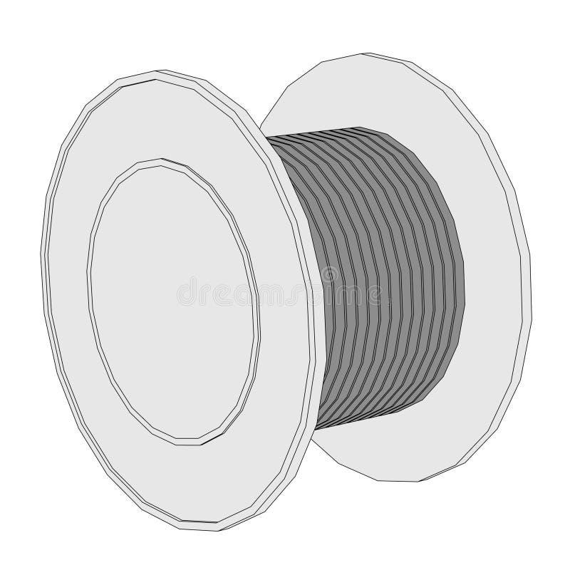 Image of wire spool stock illustration. Illustration of toon - 37809244
