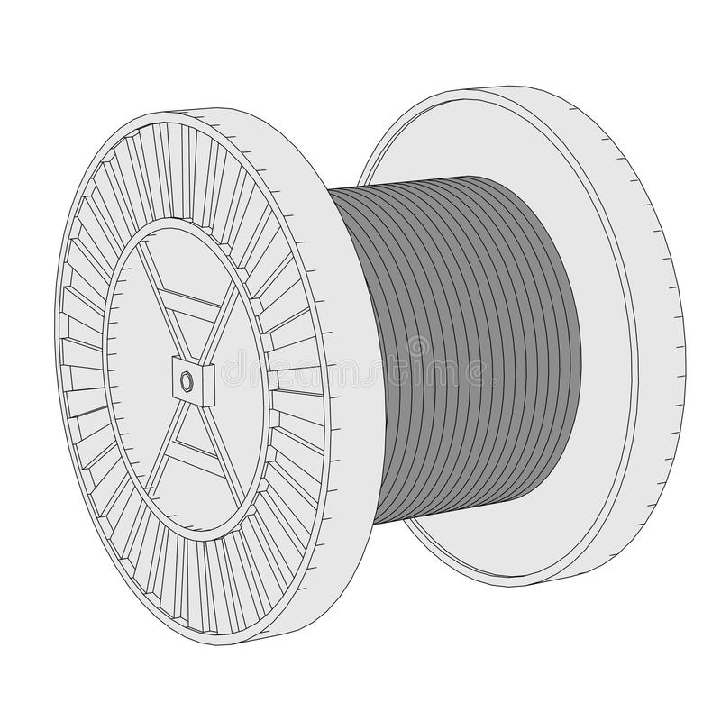 Image of wire spool stock illustration. Illustration of wire - 38555573