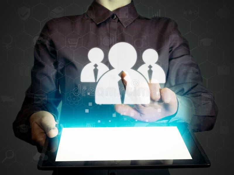 Online recruitment. Business recruitment or hiring photo concept. stock photo
