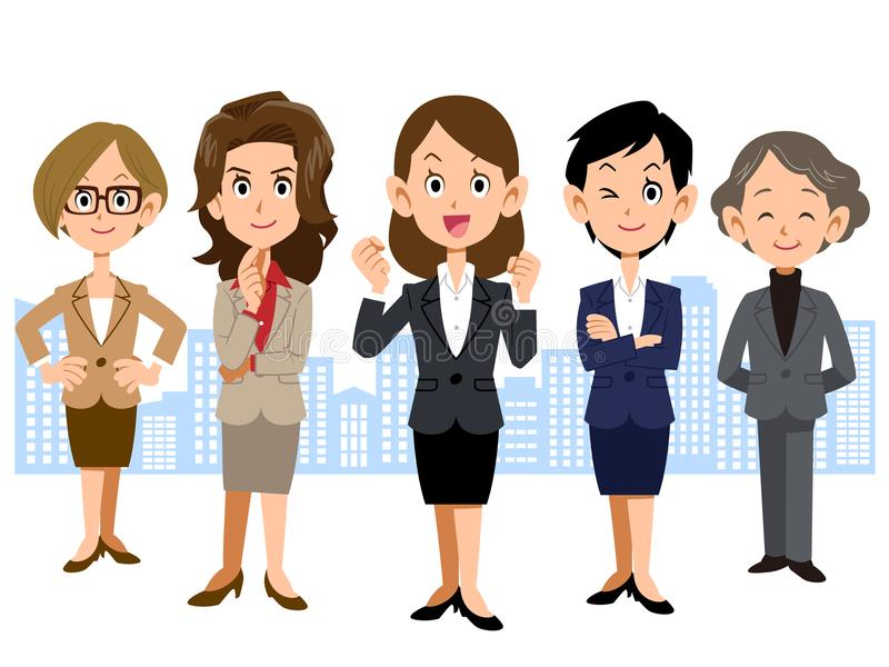 Women Business Team vector illustration