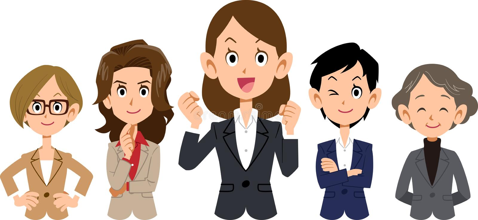 The image of a Women`s business team stock illustration