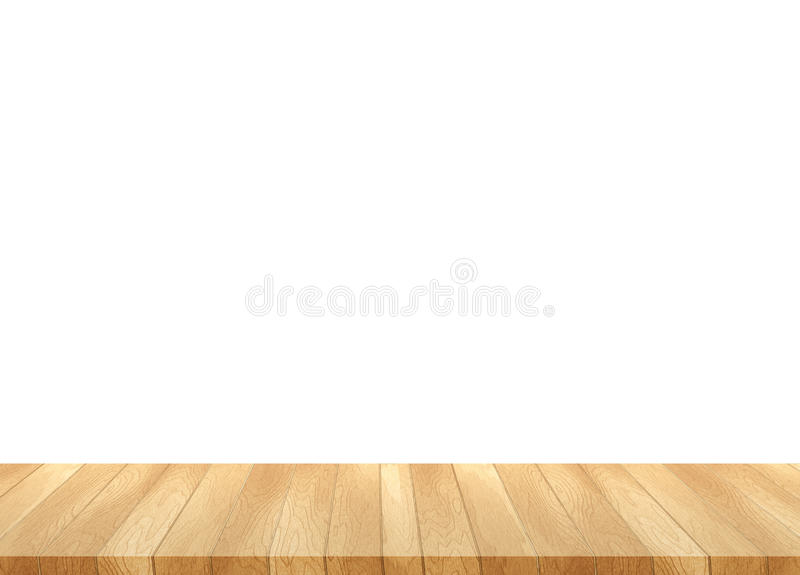 Image of wooden table in front of abstract blurred background of stock photo