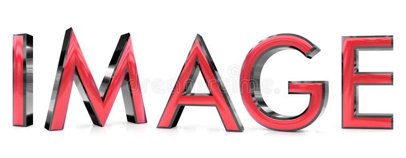 Image 3d word stock illustration