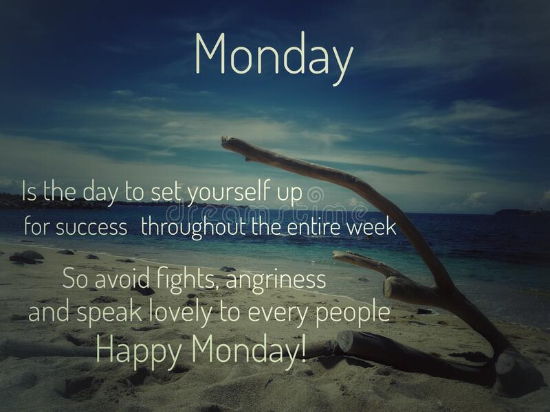 Image with wordings or quotes for happy monday stock photos