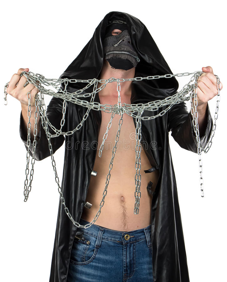 Image of young man with the chain stock photo