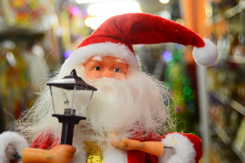 Santa Claus doll for your banner and Brochure. This image for your banner and poster royalty free stock images