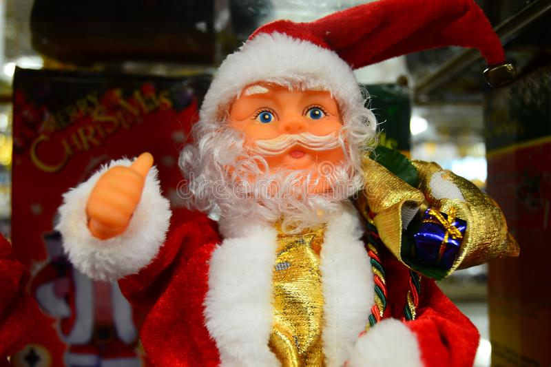 Santa Claus doll for your banner and Brochure. This image for your banner and poster stock photos