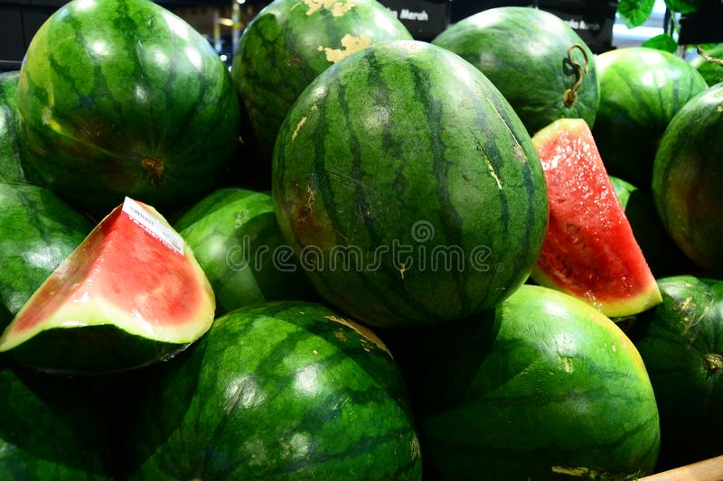 Water Melon for your banner and brochure. This Image for your Fruit and Vegetable Business stock image
