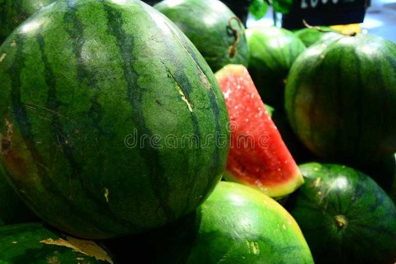 Water Melon for your banner and brochure. This Image for your Fruit and Vegetable Business royalty free stock photography